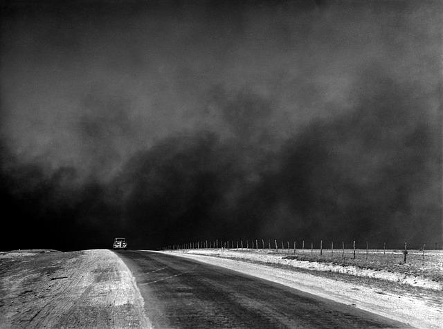 nuage de poussière